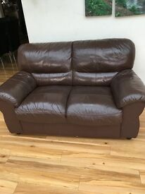 Chocolate colour 2seater, 3 seater and single seater recliner sofa for sale. In a good condition.