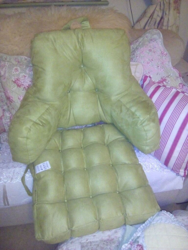Armchair booster cushion and back support cushion. Scotts of stow