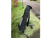 Donnay golf bag with complete set of clubs and trolley £30 ono