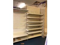 Shelving and bays in used condition good for starting out