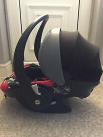 BeSafe iZi Plus car seat plus pushchair adapter, great condition