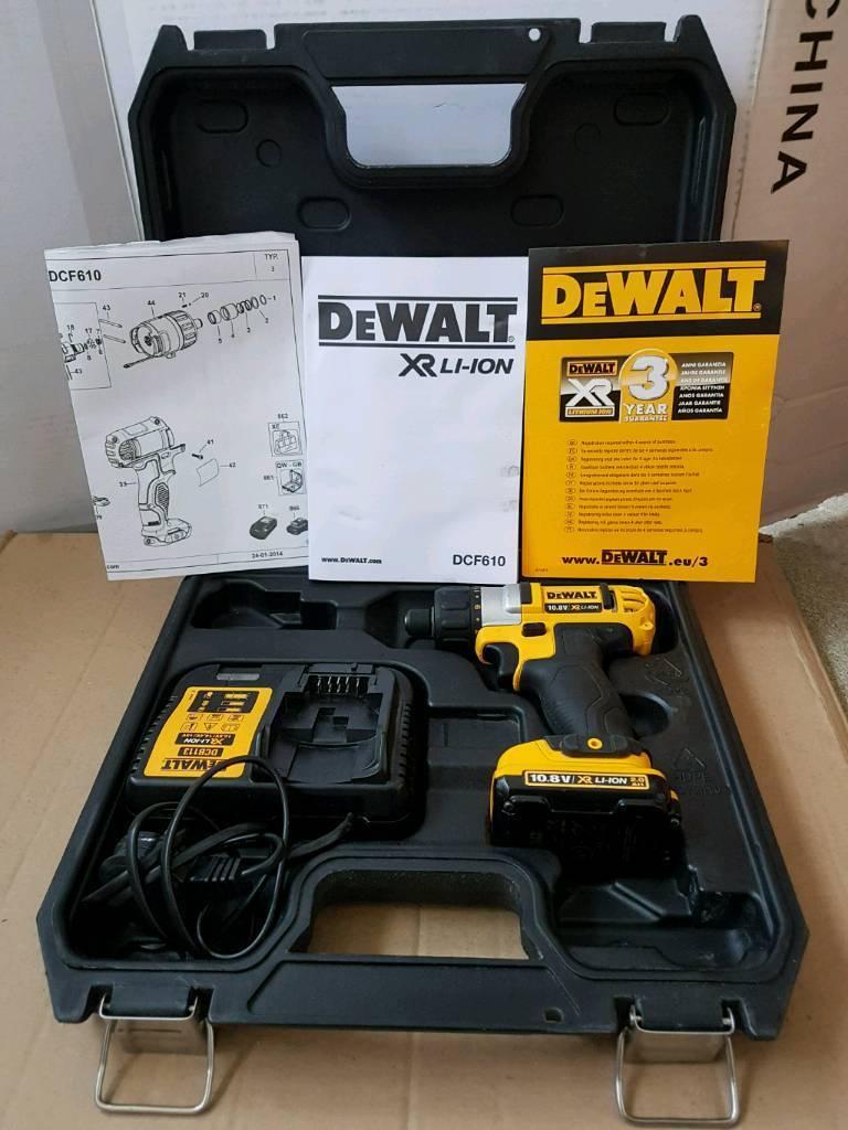 DEWALT DCF610 10.8v Quick Releae Screwdriver DrillDriver Kit2ah Li-Ion Battery