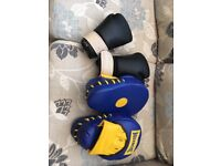 Leather Boxing Pads & Gloves . £30