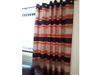 Ring top hand made lined curtains