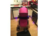 Pink graco pram/pushchair
