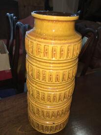 Very Nice SCHEURICH West Germany Pottery 268-40 Floor Standing Vase - Retro Lava Vase