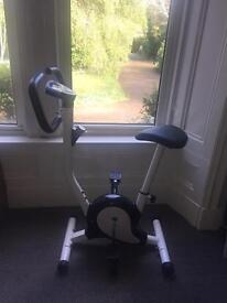 Black and white excersise Bike