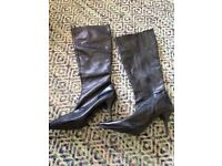 Carvela black leather knee highs. Size 7