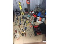 Assorted Plumbing Tools including Grinder, Ladder and Rothenberger Plunger