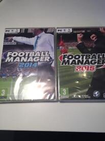 Football Manager 2014 and 2015