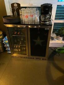 Stainless steel bottle fridge