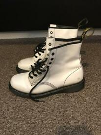 Dr. Martins White Boots