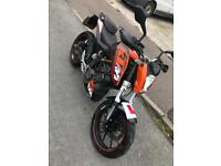 2012 KTM DUKE 125CC MOTORBIKE MOTORCYCLE COMMUTER SPORTS LEARNER LEGAL BARGAIN PRICE £1595!!!