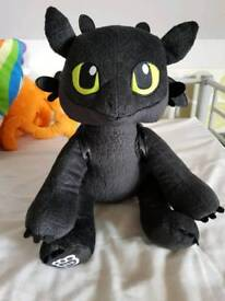 Brand new build a bear toothless with sound