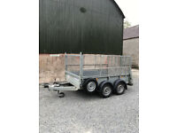 Ivor Williams GD85 Twin Axle Trailer with mesh Sides