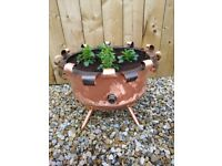 Unusual handmade Copper Planter