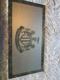 Tinted Newcastle United Emblem Glass Payne