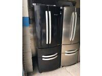 Hotpoint FF4DK Quadrio Four Door Black Freestanding Fridge Freezer