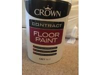 Crown floor paint grey