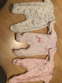 X3 fleece babygrows