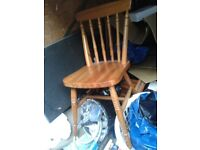 kitchen cottage wooden pine table chair, dining room
