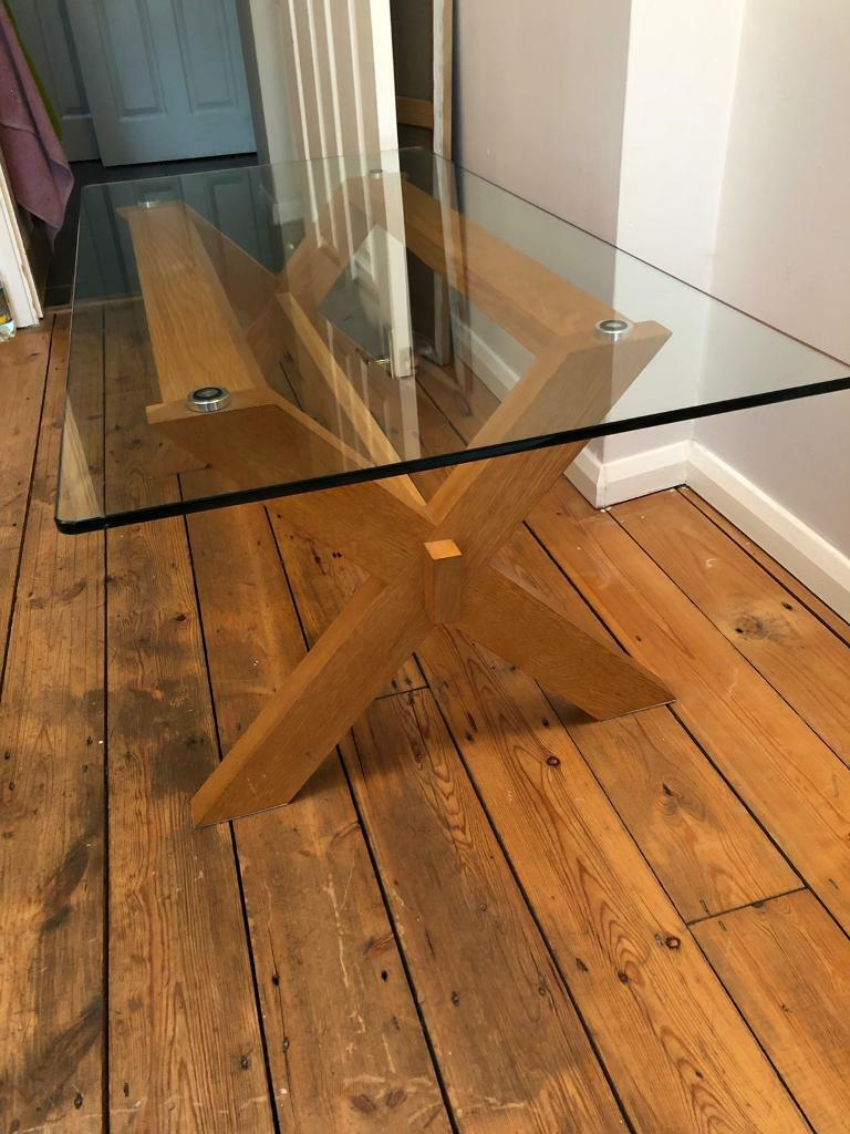 john lewis glass topped coffee table  in twickenham