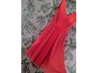 Watermelon Pink Dress,Size 6