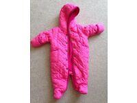 Pink Ralph Lauren snow suit 0-3 months