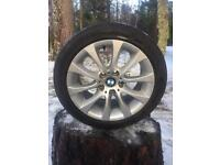 BMW 3 series alloy wheels 17 staggered from E91 335d.