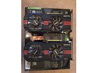 2 x ASUS GTX 560 1GB Graphics Cards