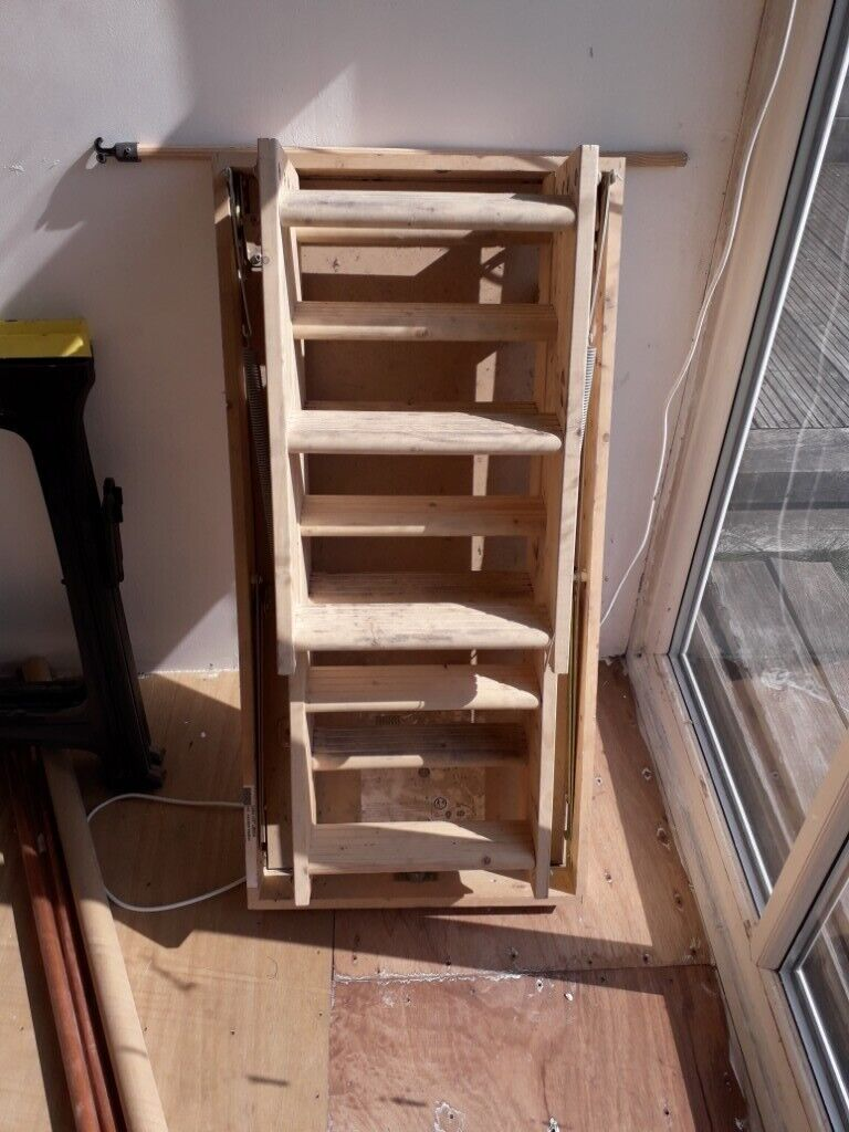 Folding Wooden Loft Ladders With Housing And Hook Staff In Poole Dorset Gumtree