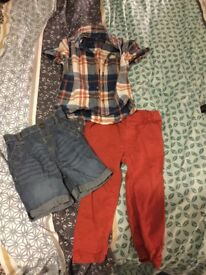 1 x shirt, 1 x shorts and 1 x jeans - Boys - 18-24 months.