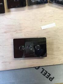3 Gang Dimmer Switch black pearl decorative faceplate