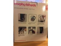 Morphy Richards stainless steel kettle- clean, but used