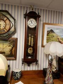 Large 4ft 6ins Double weight Vienna Clock in perfect working order
