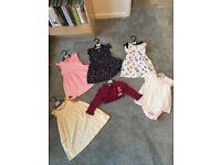 Baby girl clothing bundle size 9-12 months. Dresses/vests/bolero