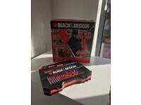 Black & Decker - Drill & Drill piece set - Like New - £30