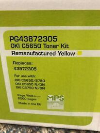 Remanufactured Planitgreen OKI toner (yellow) for OKI C5650/C5750 (Unused)