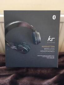 KITSOUND (KS) MANHATTAN WIRELESS HEADPHONES (BLACK)