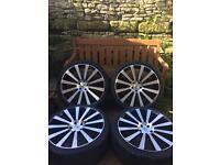 BK RACING ALLOY WHEELS VW T5 5x120 Tyres 265/35/22