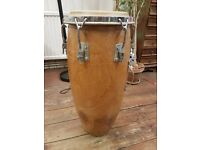 3x Solid Shell Cuban Congas made from Almond Wood.