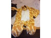 Giraffe onesie.
