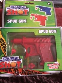 Brand new in box Spud Guns. Blue or red. Over 20 available
