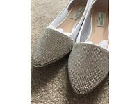 Women's Flat shoes -Sparkly / Diamanté details
