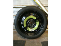 VW 5 stud Spacesaver Wheel & Tyre Fit Golf Mk V and others