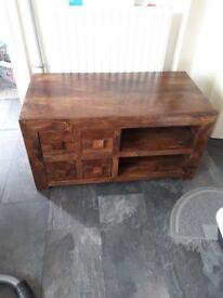 Solid wood tv unit, excellent condition