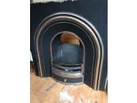 Gas fire surround and black marbel hearth