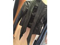 All saints Leather jacket size 8/10