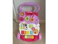 Pink baby walker - fully working and new condition