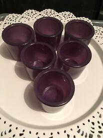 x6 purple tea light holders